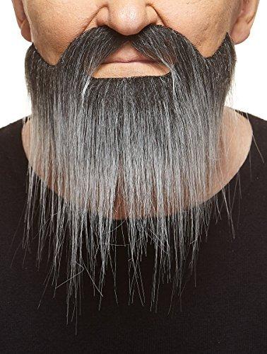 (Mustaches Langer schwarzweißer Hollywoodian fälschen, selbstklebend Bart)
