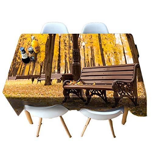HUANZI Tablecloth Küchen Dekoration rechteckige Dinner-Tisch-Deckel 3D-Bank Druck staubdicht-gelb, Rectangle - Wide 152cmx Long 228cm - 85-kuchen-deckel