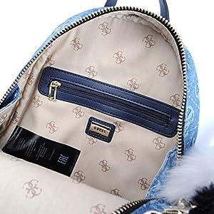 51KscPwlwgL. SS300  - GUESS Varsity Pop Small Backpack Denim Blue