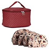 MPK Perfect Cosmetic Bag with Makeup Pouch for Women (MAROON)