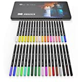 36 Piece Colored Pencil Set in Tin Box - Soft Smooth Lead - Vibrant Colours - Perfect For Adult Colouring Books Secret Garden or Childrens Gift (36 piece set in tin box)