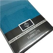 Franela térmica 100% algodón cepillado plano o sábana bajera Plain Lujo nuevo - Azul,