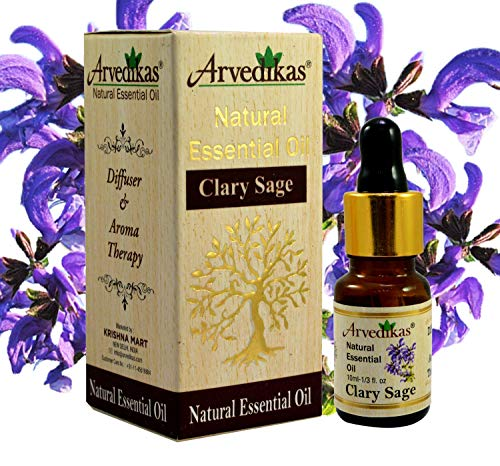 Salvia Sclarea Aceite 100% natural puro sin diluir Uncut aceite esencial 10ml