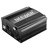 Neewer 1-Kanal 48V mit 5-fuß USB Kabel, BONUS + XLR 3 Pin Mikrofon Kabel für Alle Kondensatormikrofon Musik Aufnahmegeräte