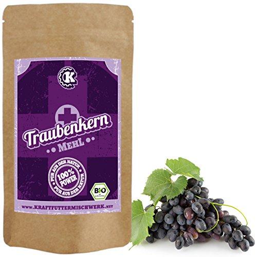 BIO Traubenkernmehl 500g fein vermahlen - Rohkost aus deutschem Anbau - geballte Kraft aus dem Innern der Trauben
