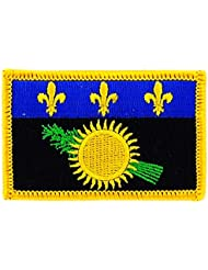 Patch écusson brodé drapeau guadeloupe gwada 971 thermocollant Insigne backpack