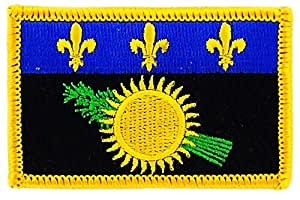 Patch écusson brodé drapeau guadeloupe gwada 971 thermocollant Insigne backpack