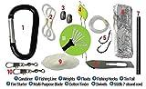 Survival-Kit Paracord-Granate - 11-teilige Überlebens-Ausrüstung mit Feuerstarter-Set, Angelschnur, Fischhaken uvm. - 2