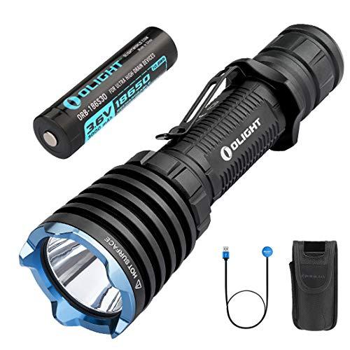 OLIGHT Warrior X Lampe Torche Rechargeable Tactique 2000 Lumens 560 M Chargement Magnétique USB MCC 1A Deux Configurations à Un Usage Chasse ou Forces de l'ordre