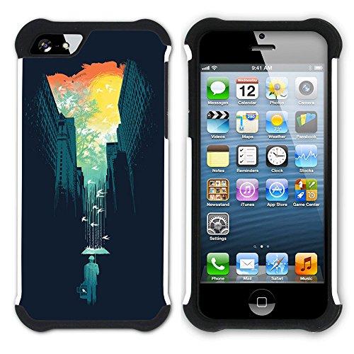 Graphic4You Curves On Canvas Digital Art Muster Design Hart + Weiche Kratzfeste Hülle Case Schale Tasche Schutzhülle für Apple iPhone SE / 5 / 5S Design #6