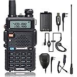 BaoFeng UV-5R Walkie Talkie Ham Two Way Radio with 2 1800mah UV-5R Batteries