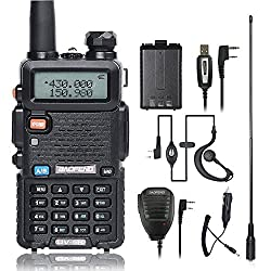 Baofeng Uv-5r Ham Two Way Radio With 2 1800mah Uv-5r Batteries & Other Required Accessories