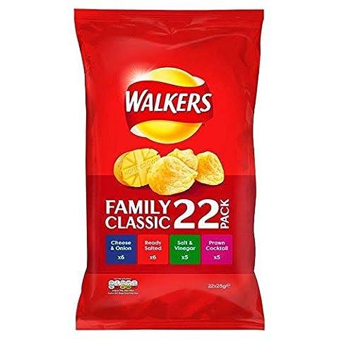 Walkers Classic Variety Crisps 24g x 22 per pack