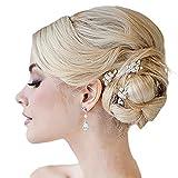 Jovono épingles à cheveux avec strass et perles de mariage pince à cheveux de mariée pour les femmes et les filles