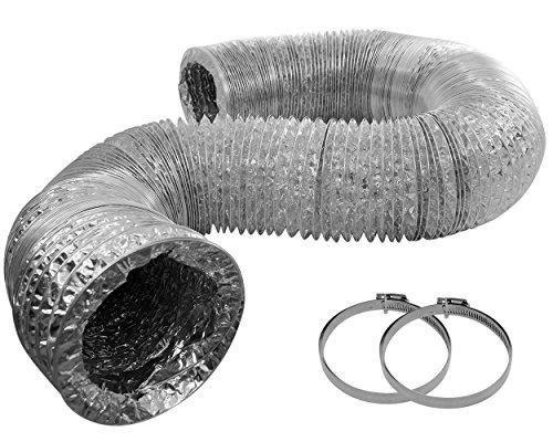 Happy Hydro HVAC Flex Rohr, ungedämmt Entlüftung Schlauch Elternteil (8) Trockner Auspuff