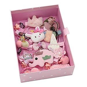 @Y.T 24-teiliges Set von Haarschmuck für Kinder Set Geschenkbox Haarnadel Prinzessin Baby Kopfschmuck Geschenk