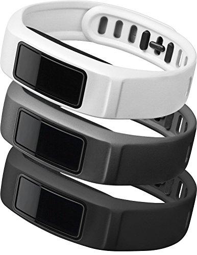 Garmin-uhr 210 (Garmin Wechsel-Armbänder Vívofit 2 , Schwarz/Grau/Weiß, Gr.L, 010-12336-00)