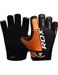 RDX Gym Weight Lifting Gloves Competition Workout Fitness Bodybuilding Exercise Crossfit Breathable Powerlifting Wrist Support Training Mountain Biking Cycling Road Racing Driving Jogging Hiking