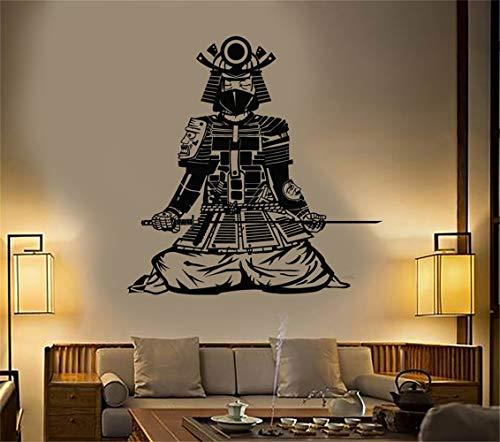 Und Weiße Kostüm Asiatische - Vinyl Wandtattoos Zitate Sprüche Wörter Kunst Dekor Schriftzug Vinyl Wandkunst Asiatischen Samurai Japanischen Krieger Stil Kostüm CatanaSword
