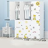 Assemblée plastique Armoire simple enfant moderne Minimaliste pliant bébé Cartoon résine Container Storage Closet