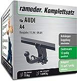 Rameder Komplettsatz, Anhängerkupplung Abnehmbar + 13pol Elektrik für Audi A4 (112718-00253-1)