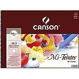 Canson Mi-Teintes 160 GSM 24 x 32 cm Album of 30 Honeycomb & Fine Grain Sheets - White