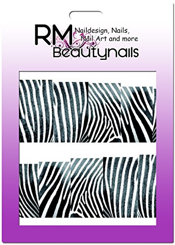 RM Beautynails Stickers nailw Rap Full Cover Stickers pour ongles One Stroke Stickers Nail Art Design Zebra