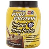 Pure Protein Pure Protein 100 % Whey Protein 100% Natural Rich Chocholate 2 Pound Tub by Pure Protein