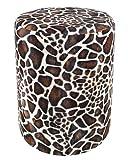 Sitzhocker Fell-Imitat Giraffe Sitzhöhe 44 cm