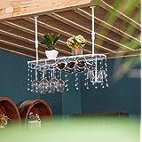 Hängendes angebrachtes Metallwein-Gestell, europäisches Eisen-Weinglas-hängendes Regal u. Becher-Regal für Küche / Bar / Restaurant ( Farbe : Weiß , größe : 100*25cm )
