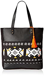 Kanvas Katha Womens Handbag (Black) (KKVTT002)