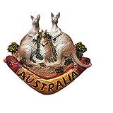 MUYU Magnet Australien Känguru-Kühlschrankmagnet Reise-Aufkleber Souvenir, Zuhause und Küche Dekoration. Australien Känguru-Kühlschrankmagnet