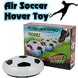 BETTERLINE 1 Fußball Scheibe mit Schaum Stoßstangen und LED-Leuchten, die aufleuchten, auf Luft schwebender Kinder Sport Ball Spiel für Drinnen und Draußen, Weiß, 18.5 cm