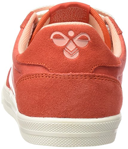 Hummel Damen Slimmer Stadil Smooth Lo Sneakers Rot (Camellia 4075)
