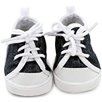 Gotz 3402543 Doll Denim Sneakers Size S / XS - Doll Accessorie - Suitable For Baby Dolls Size S (30 - 30 cm) And Standing Dolls Size XS (27 cm)