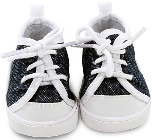 Götz 3402543 Sneaker Denim Puppenschuhe - Puppenkleidung & Puppenzubehör für Babypuppen Gr. S von 30 - 33 cm und Stehpuppen Gr. XS von 27 cm - Schuhe Puppe