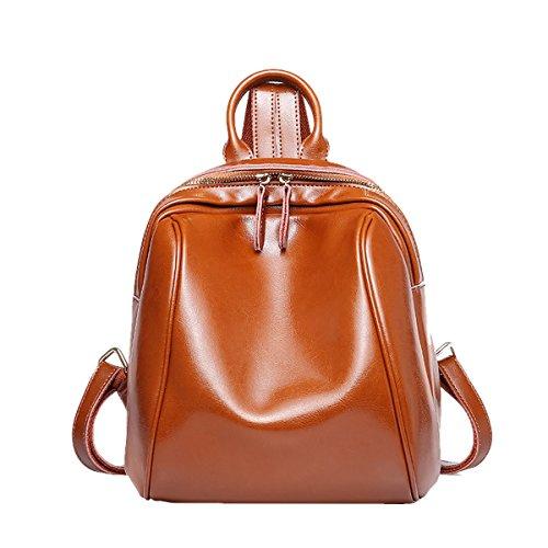 Valin Q0870 Damen Leder Handtaschen Satchel Tote Taschen Schultertaschen Braun