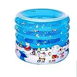 Silai Baignoire Gonflable Piscine Circulaire de personnalité bébé Enfant Bleu Convient pour 1-2 Personnes 100 * 70 * 75cm (Color : A)