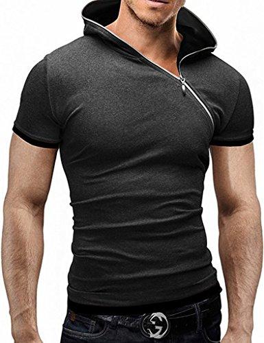 Legou Herren T-Shirt 4 Größe 6 Frabe Basic Shirt Schwarz One Size Dark Grau+Schwarz