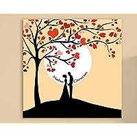 Hochzeitsgeschenk von CristalPainting Lebensbaum Hochzeitsalbum 50x50 cm Hochzeit Familienfeier Goldene Hochzeit