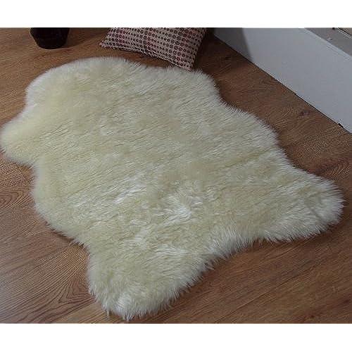 White Fluffy Rug Amazon Co Uk