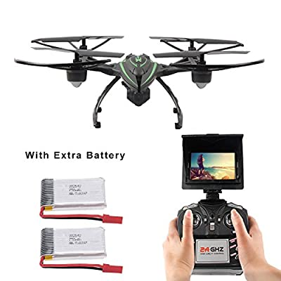 Mattheytoys JXD 510G 5.8G FPV Drone with 2.0MP HD Real-time Camera High Hold Mode Headless Mode One Key Return RC Quadcopter with 2 Extra Batteries