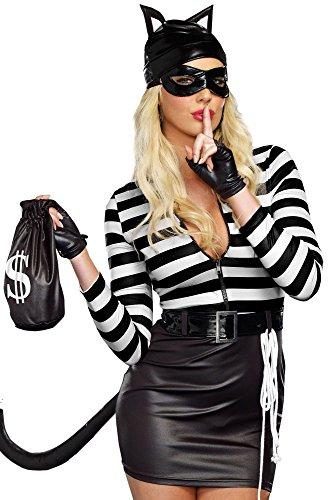 Damen-Kostüm - Sexy Einbrecher-Katze - Gr. 36/38