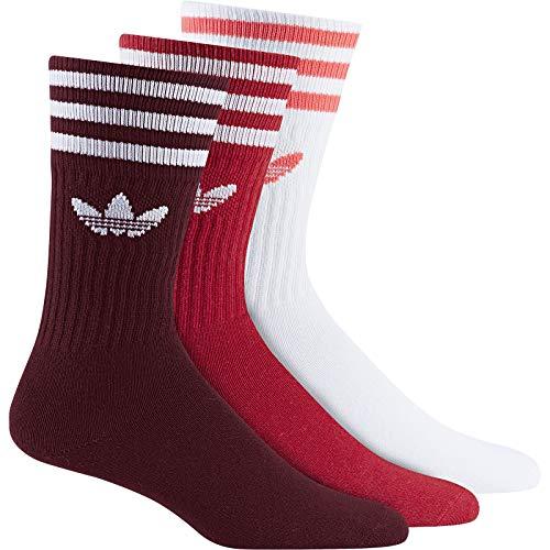 adidas Solid Crew 3 Pack, Socks Herren 2XL Collegiate Burgundy/Scarlet/White