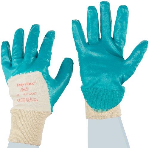 Ansell Easy Flex 47-200 Gants oléofuges, protection mécanique, Vert, Taille 9 (Sachet de 12 paires)