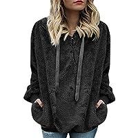 Hanomes Damen pullover, Frauen mit Kapuze Sweatshirt Mantel Winter warme Wolle Reißverschluss Taschen Baumwolle... preisvergleich bei billige-tabletten.eu