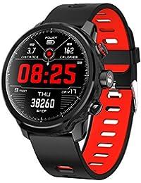 Montre Intelligente Bluetooth Fitness Watcher IP68 Bracelet étanche Compatible avec la synchronisation des informations de Gestion de la santé iOS et Android L5 Batterie Longue durée