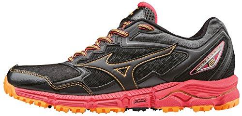 Mizuno Wave Daichi 2 (w), Zapatillas de Running para Asfalto para Mujer, Negro (Black/Black/Diva Pink), 38.5 EU