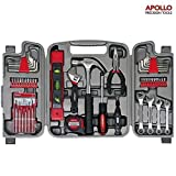 Apollo 53 Piece Household Tool Set including Metric Wrenches, Precision Screwdrivers Set and Most Reached for Hand Tools