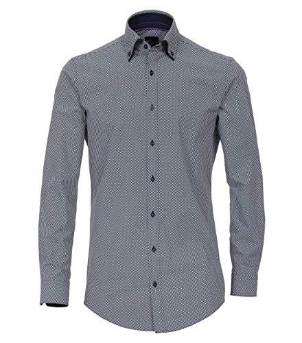 Venti Herren Hemd mit modischem Druck Body Fit